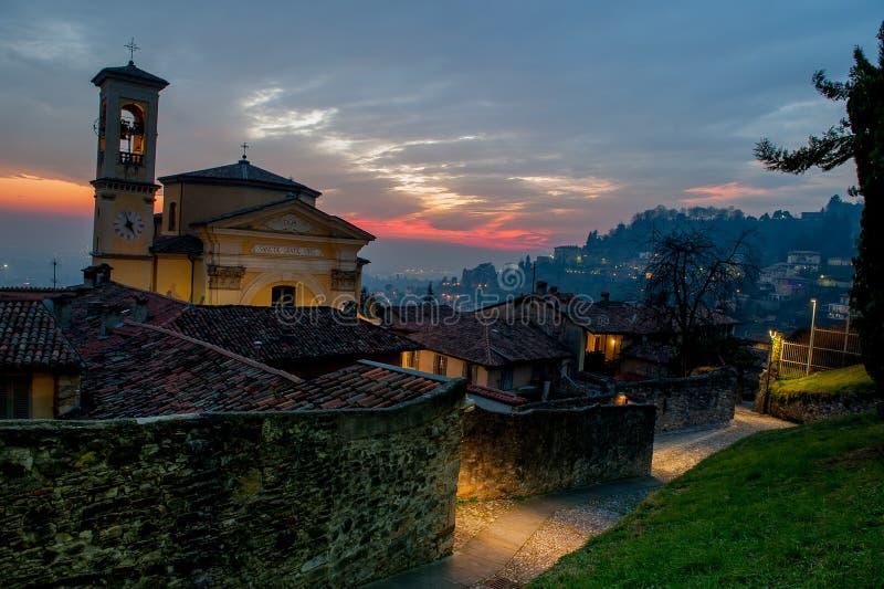 Bergamo church royalty free stock photos