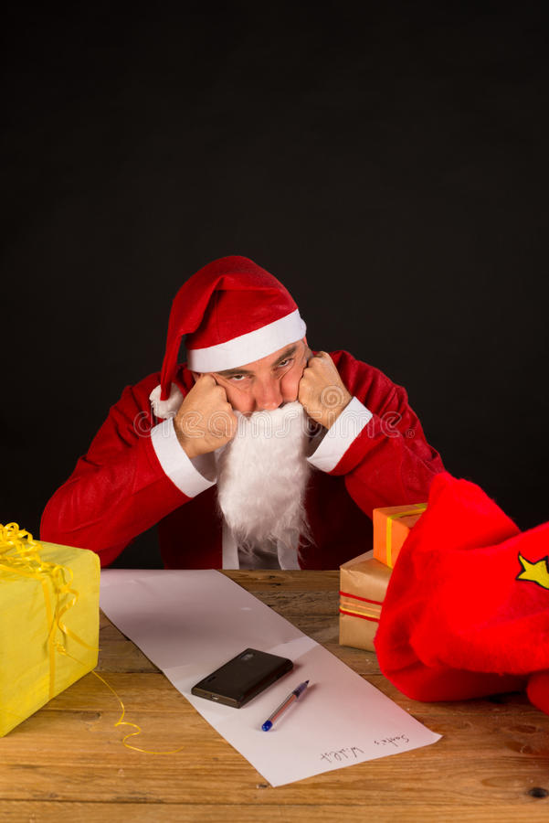 Santa grincheuse photo libre de droits