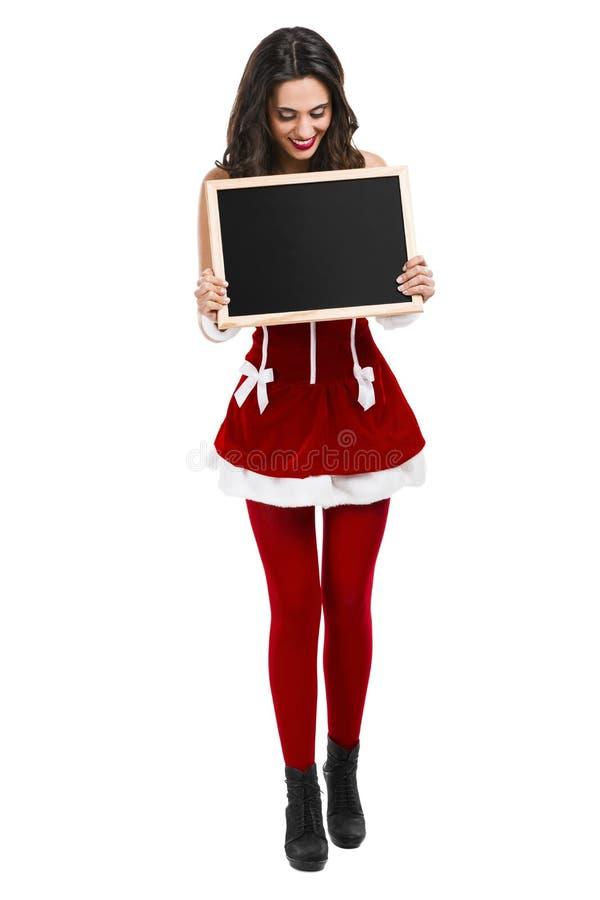 Santa hace una presentación fotos de archivo