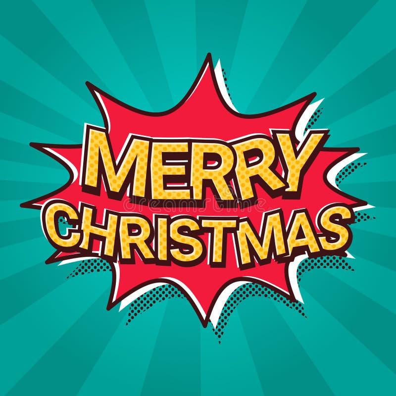 Santa Hand Hold Merry Christmas- und guten Rutsch ins Neue Jahr-Fahnen-Plakat-Design stock abbildung