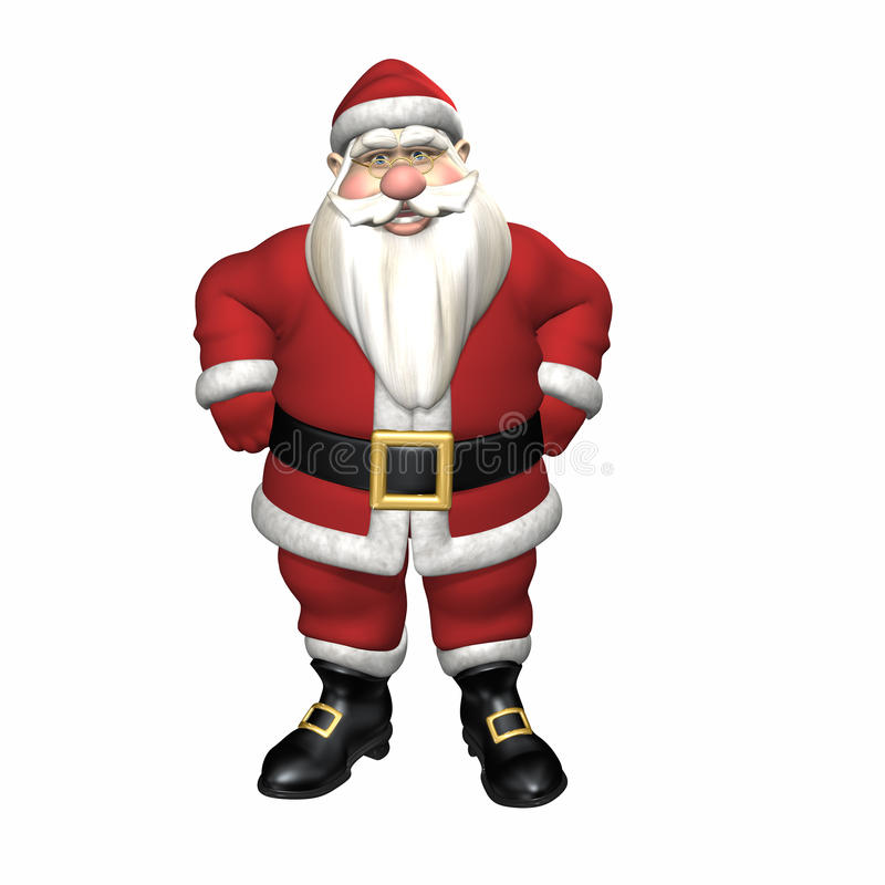 Santa With Hands On Hips Royalty Free Stock Photo