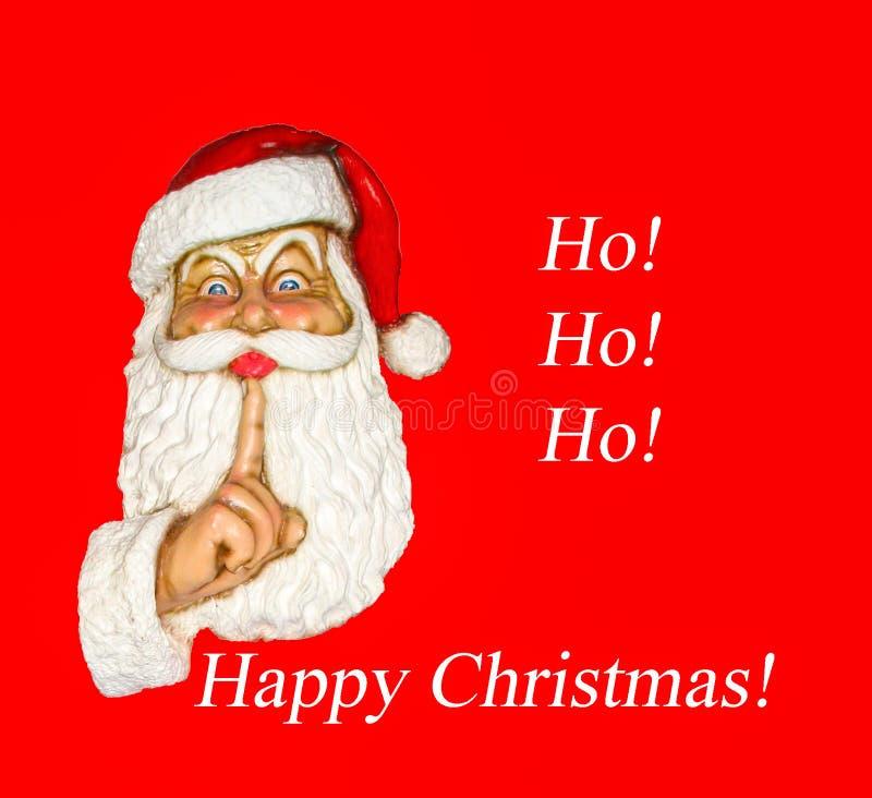 Santa Happy Christmas Ho! Ho! HO! royaltyfri foto