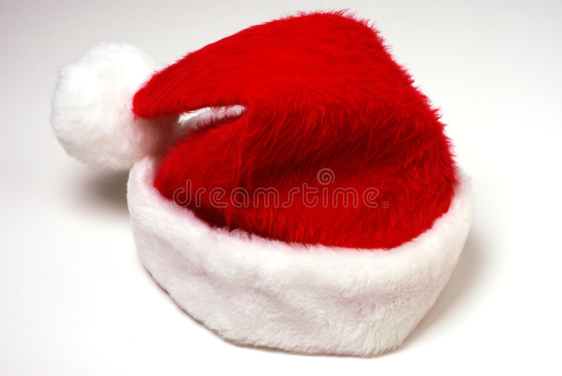 Santa Hat. Santa Claus hat on a white background royalty free stock photos