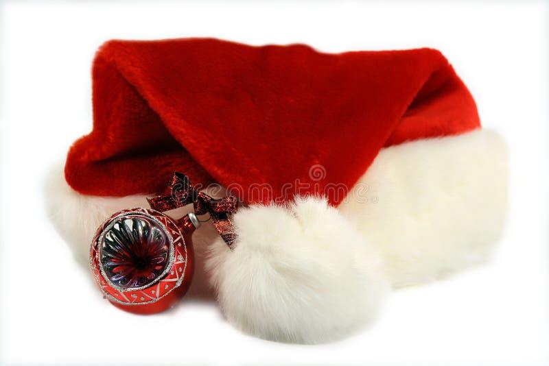 Santa hat. On white background royalty free stock photography