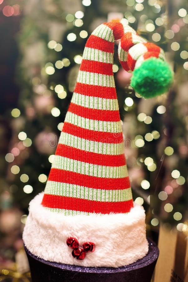 Santa hat decoration stock photography