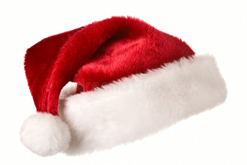 Santa hat isolated on white stock images