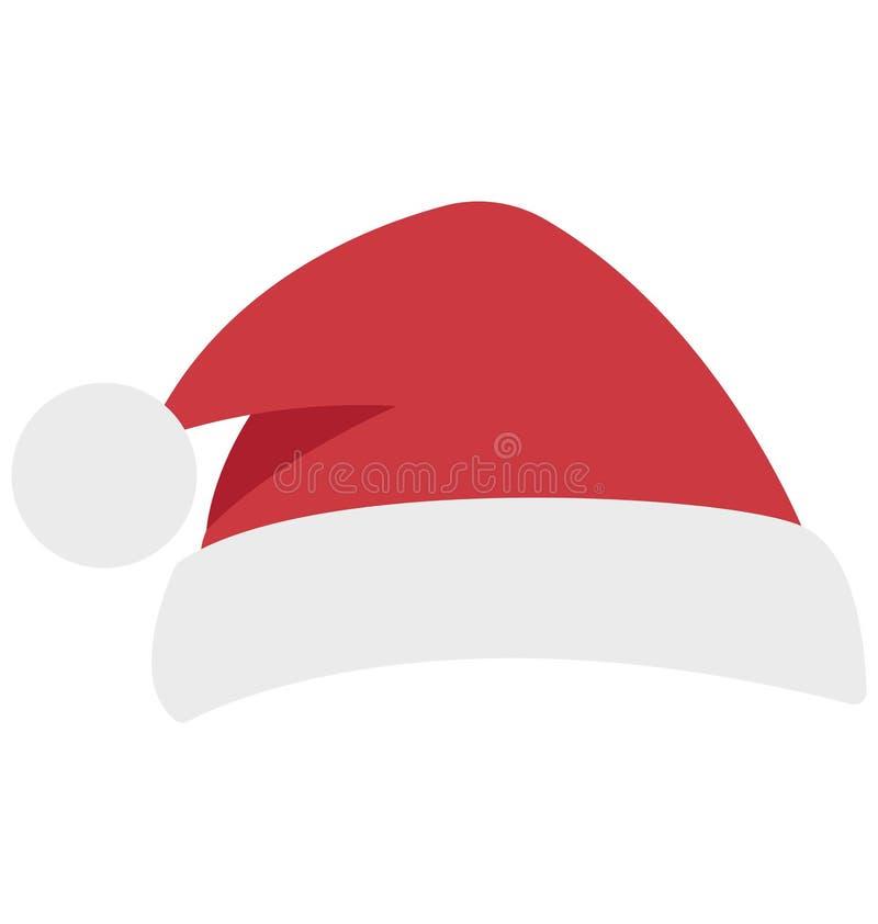 Santa Hat Vector Isolated Vector symboler som kan lätt ändras och redigera royaltyfri illustrationer