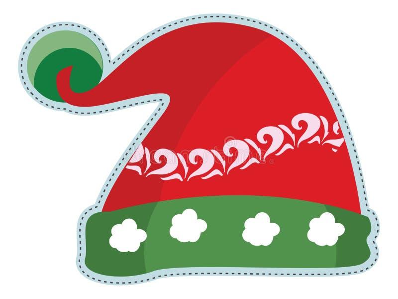 Santa hats doodles vector illustration