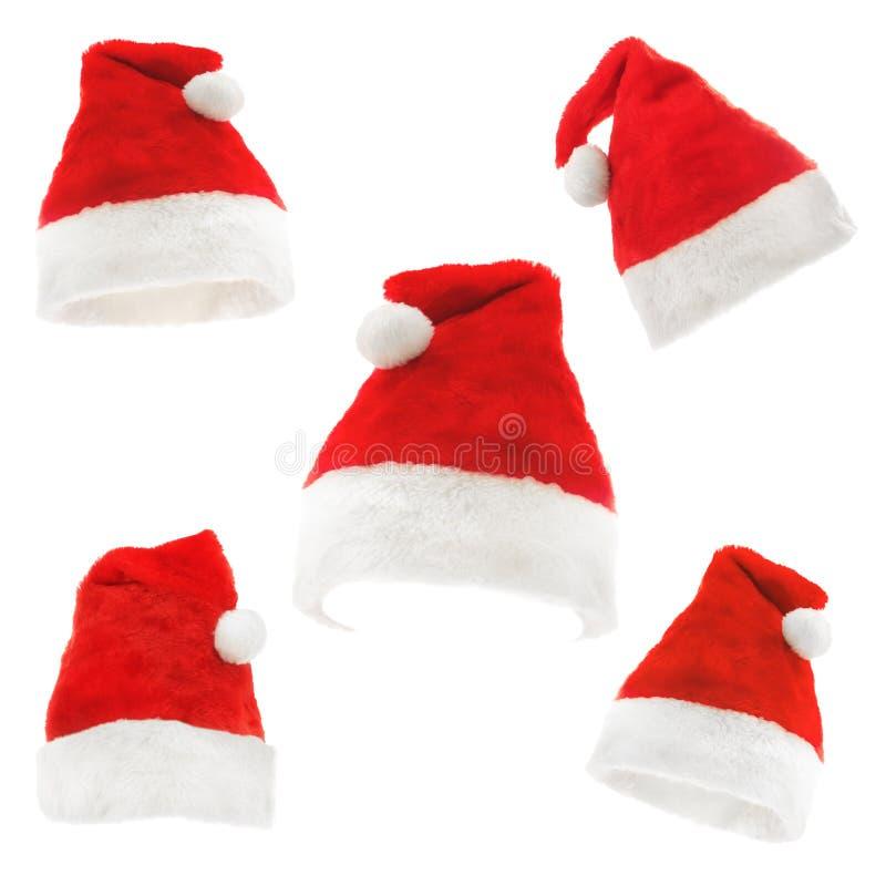 Santa hats royalty free stock photos