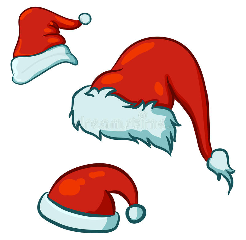 Santa hats vector illustration