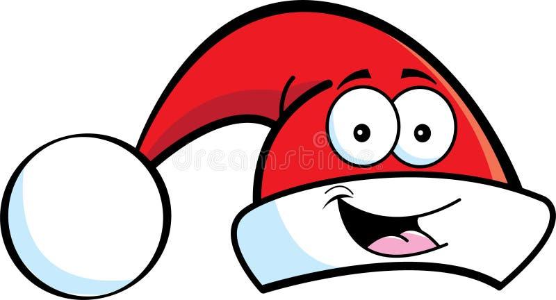 Santa hatt royaltyfri illustrationer