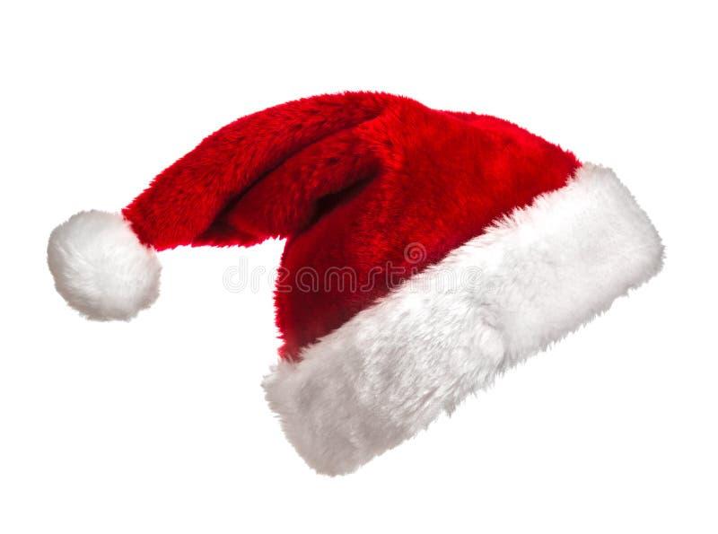 Santa hatt på vit arkivbilder