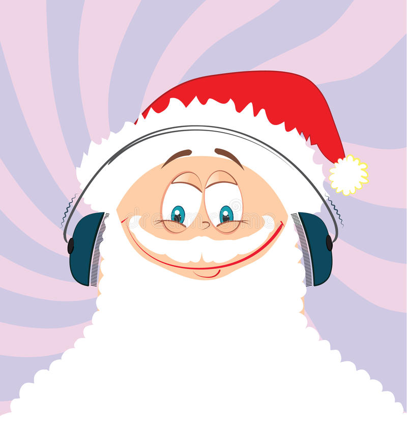 Santa and headphone royalty free stock image