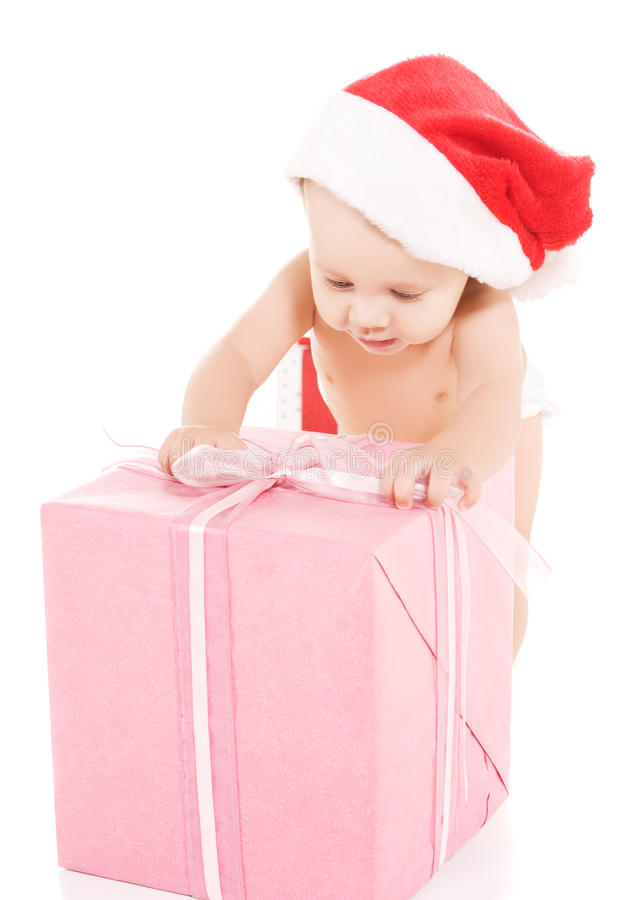 Download Santa Helper Baby With Christmas Gifts Stock Image - Image: 11158037