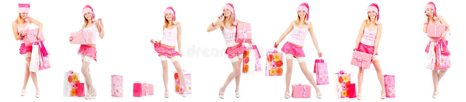 Download Santa helper with presents stock photo. Image of calling - 16288974