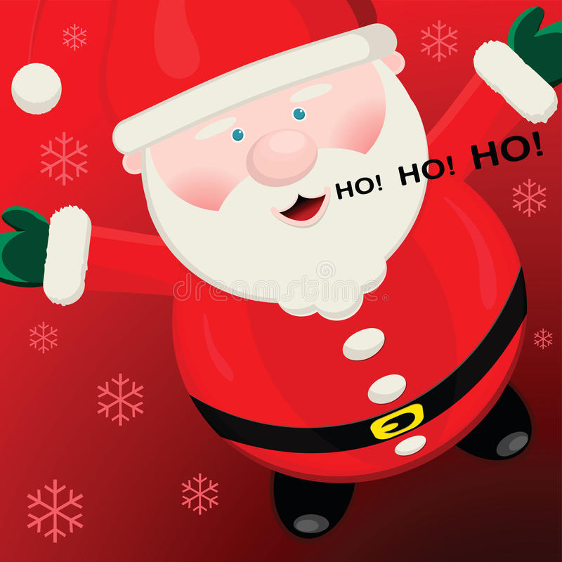 Santa heureuse illustration stock
