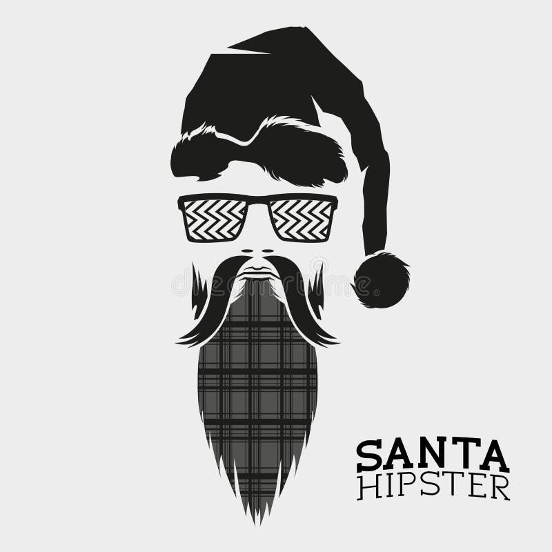 Santa Hipster Vector royalty-vrije illustratie