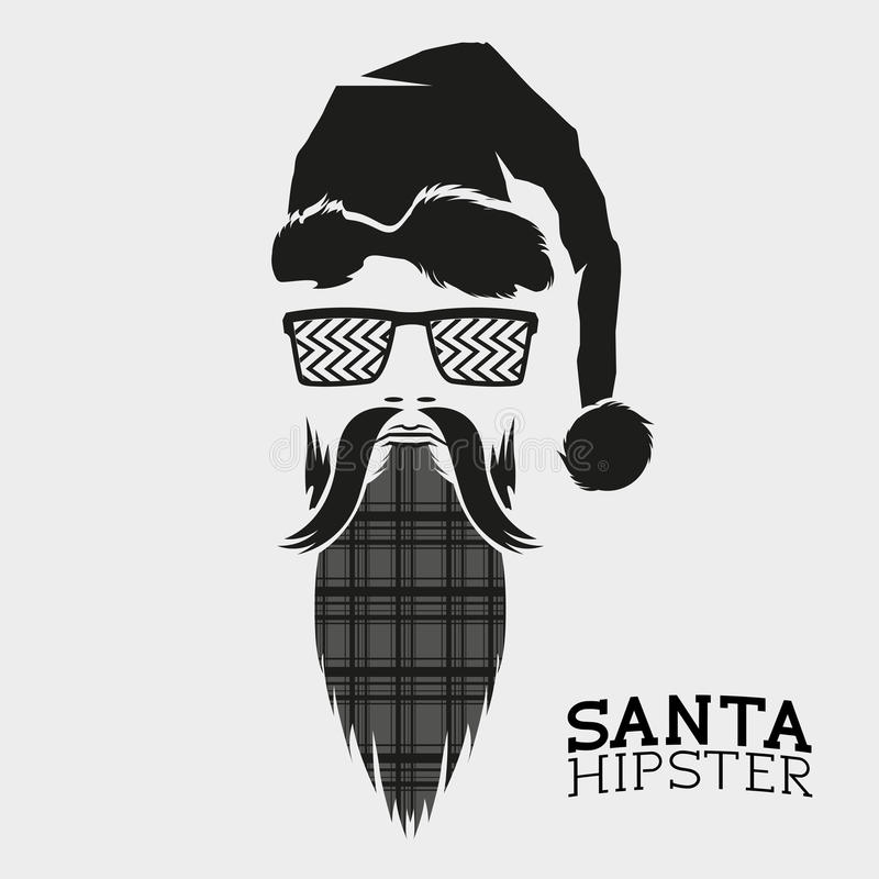 Santa Hipster Vetor ilustração royalty free