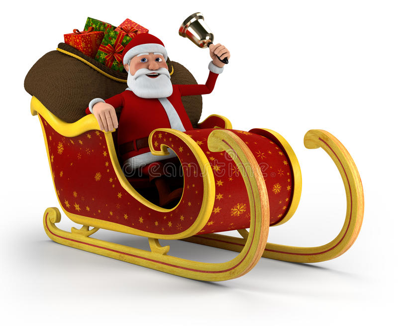 Download Santa in his sleigh stock illustration. Illustration of overweight - 20588654
