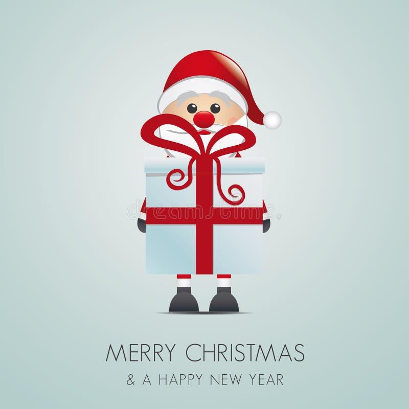Santa hold gift box