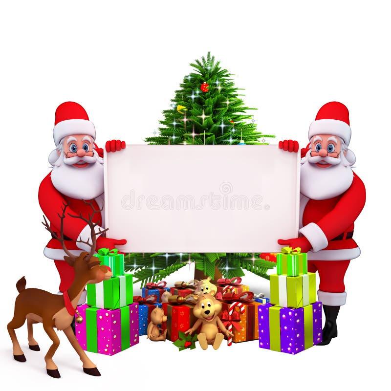 Download Santa holding a big sign stock illustration. Illustration of bell - 26669471