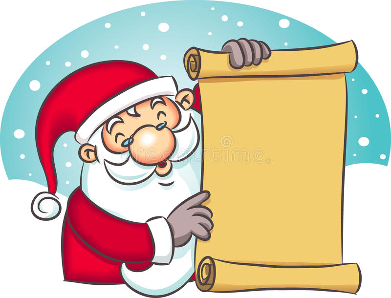 Download Santa Holding List stock vector. Image of design, holiday - 10889906