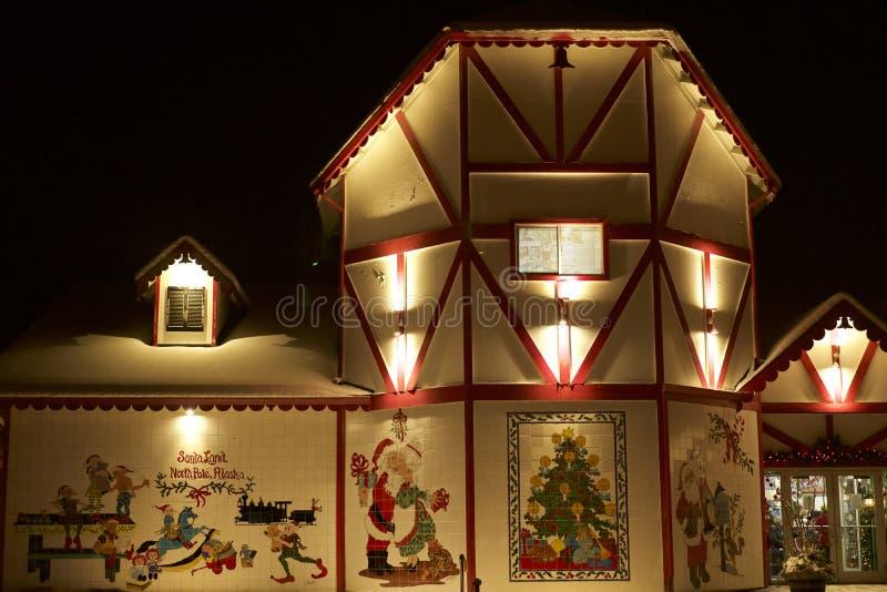 Santa Home North Pole Alaska arkivfoto