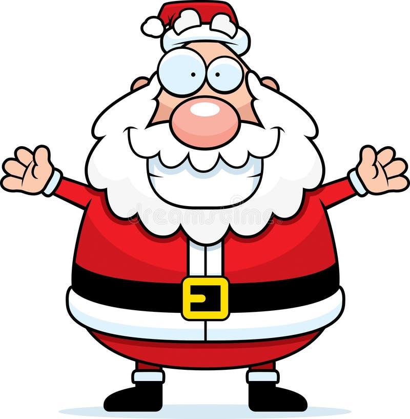 Download Santa Hug stock vector. Image of beard, xmas, affection - 14122821