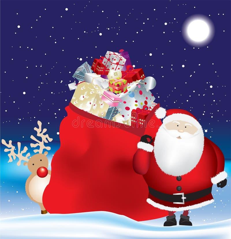 Santa And Huge Sack Royalty Free Stock Image