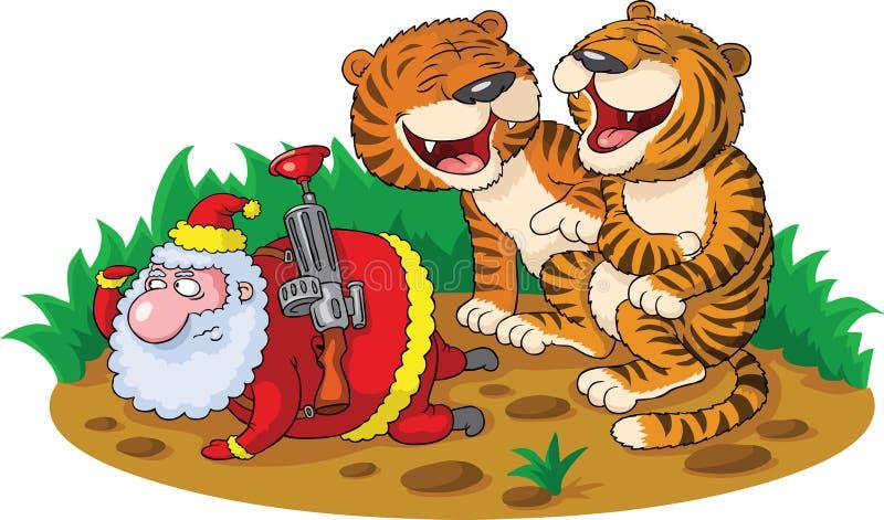 Santa - hunter royalty free illustration