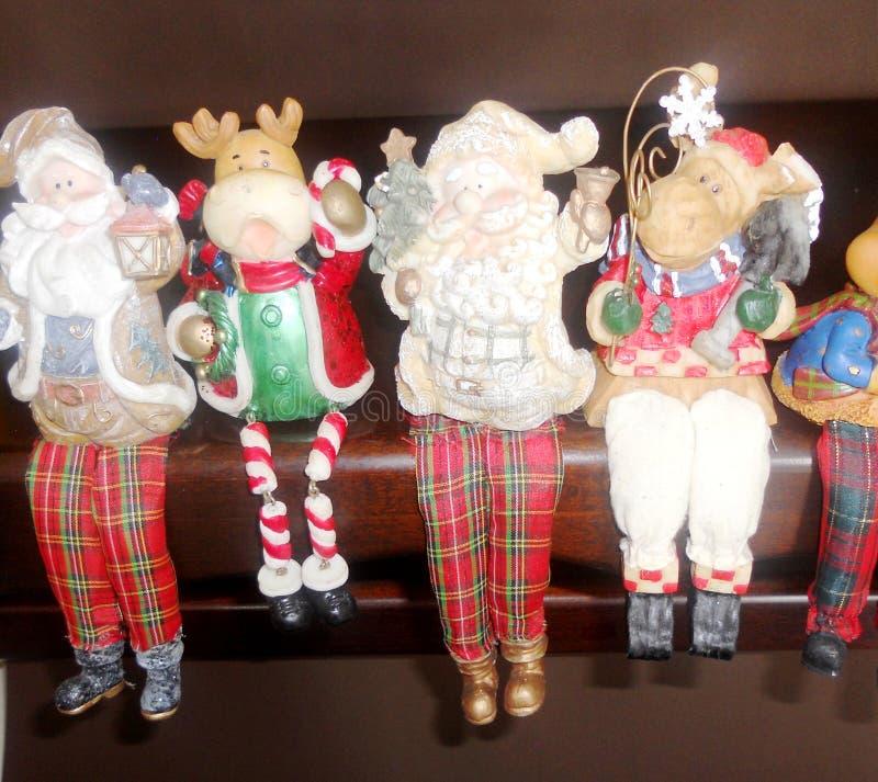 Santa i renifer zdjęcia royalty free