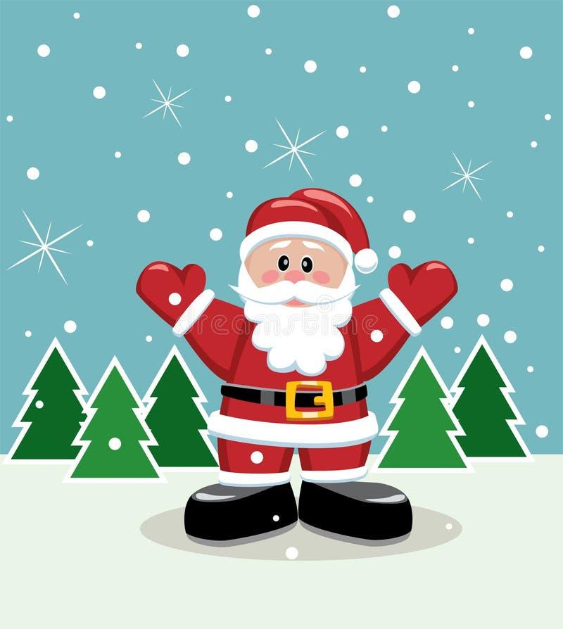 Santa on ice royalty free stock image