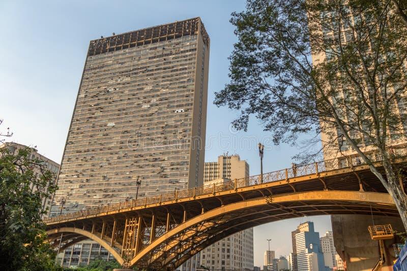 Santa Ifigenia Viaduct - Sao Paulo, Brasil imagem de stock royalty free