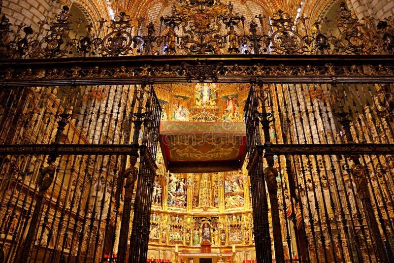 Santa Iglesia Catedral Primada de Toledo, Catedral Primada Santa Maria de Toledo, built in Mudejar gothic style. Santa Iglesia Catedral Primada de Toledo royalty free stock photo