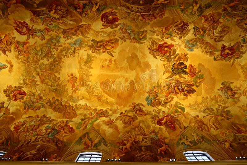 Santa Iglesia Catedral Primada de Toledo, Catedral Primada Santa Maria de Toledo, built in Mudejar gothic style. Santa Iglesia Catedral Primada de Toledo stock image