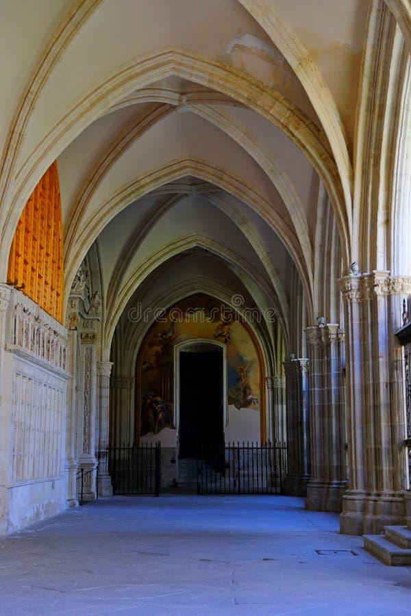 Santa Iglesia Catedral Primada de Toledo, Catedral Primada Santa Maria de Toledo, built in Mudejar gothic style. Santa Iglesia Catedral Primada de Toledo royalty free stock photography