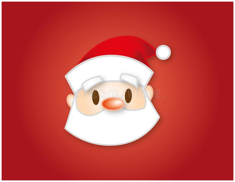 Santa Claus illustration for christmas decoration royalty free stock photography