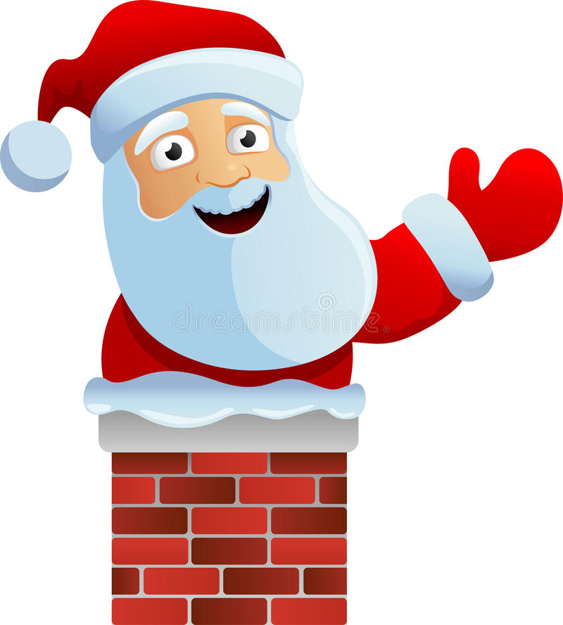Free Santa In The Chimney Stock Photography - 22330182