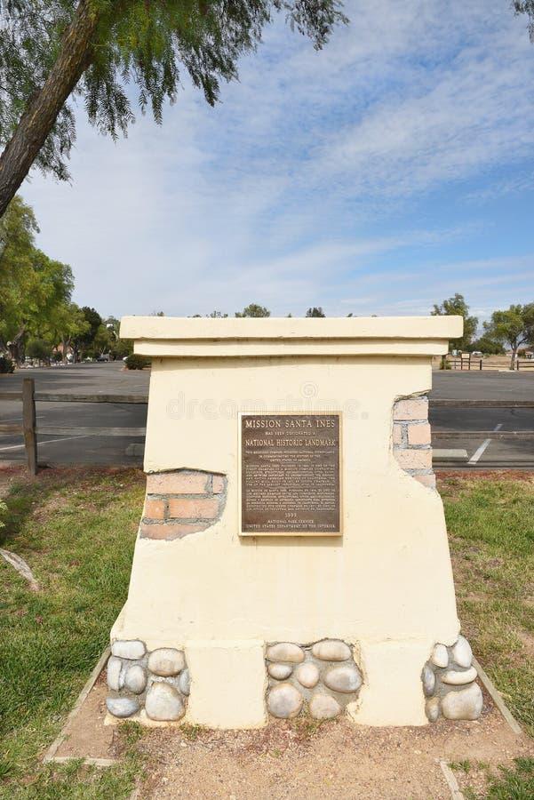 Santa Ines Historic Landmark Sign image libre de droits
