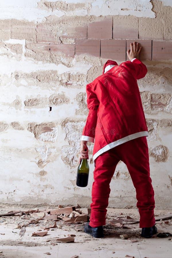 Santa ivre Staggering photo libre de droits