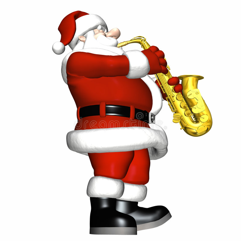 Santa - jazz doux 3 illustration libre de droits