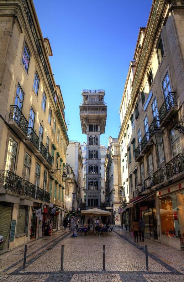 Santa Justa. Elevator in Lisbon stock images