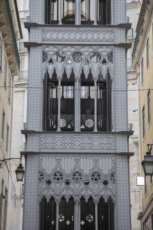 Santa Justa Elevador, Lisbon. Portugal royalty free stock photo
