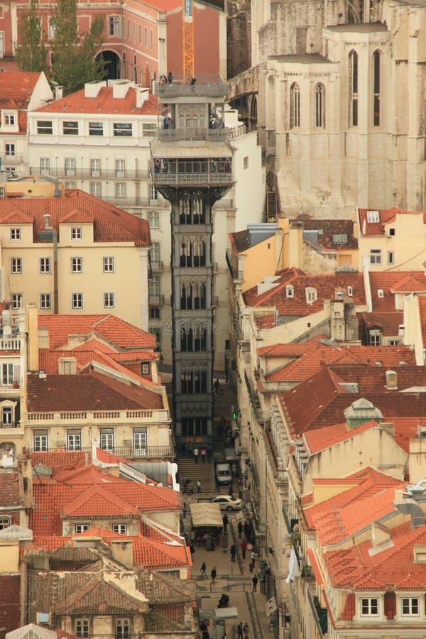 Download Santa Justa Elevator arkivfoto. Bild av gata, historiskt - 37344448