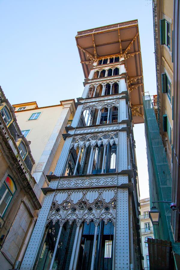 Santa Justa Elevator. In Lisbon, Portugal stock photos