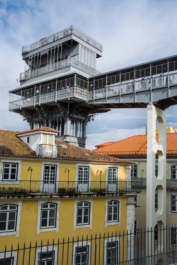 Santa Justa elevator in Lisbon stock photos