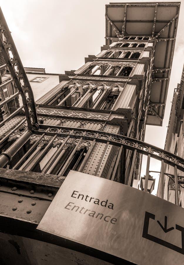 Santa Justa Elevator royalty free stock photo