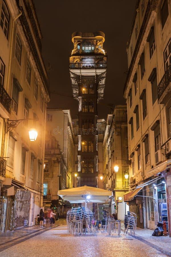 Santa Justa Lift. The Santa Justa Lift also called Carmo Lift is an elevator in Lisbon stock photography