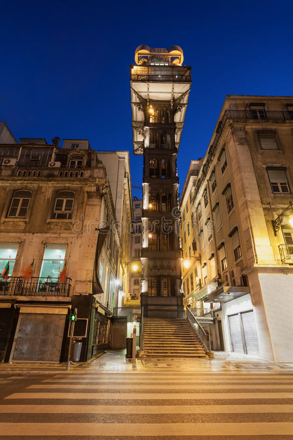 Santa Justa Lift. The Santa Justa Lift also called Carmo Lift is an elevator in Lisbon royalty free stock images