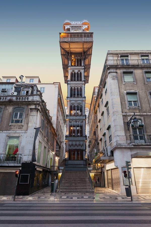 Santa Justa Lift. The Santa Justa Lift also called Carmo Lift is an elevator in Lisbon royalty free stock photography